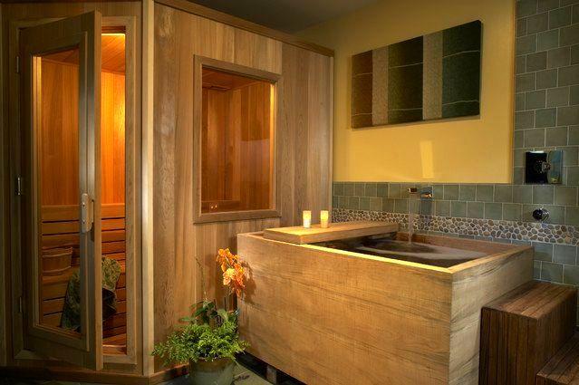 домашняя сауна в ванной