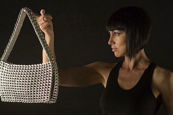 сумка своими руками из язычков от алюминиевых банок