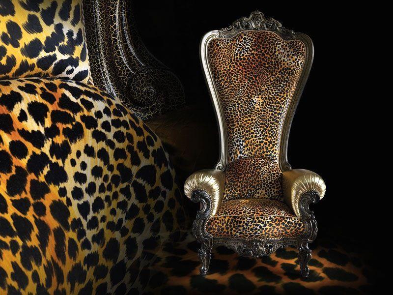 леопардовое кресло трон