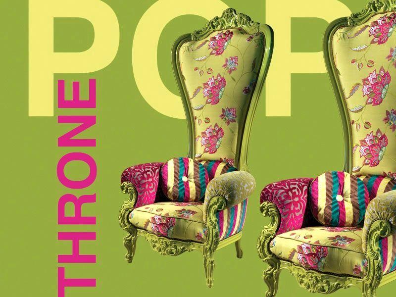 кресло трон throne caspaniв стиле Pop