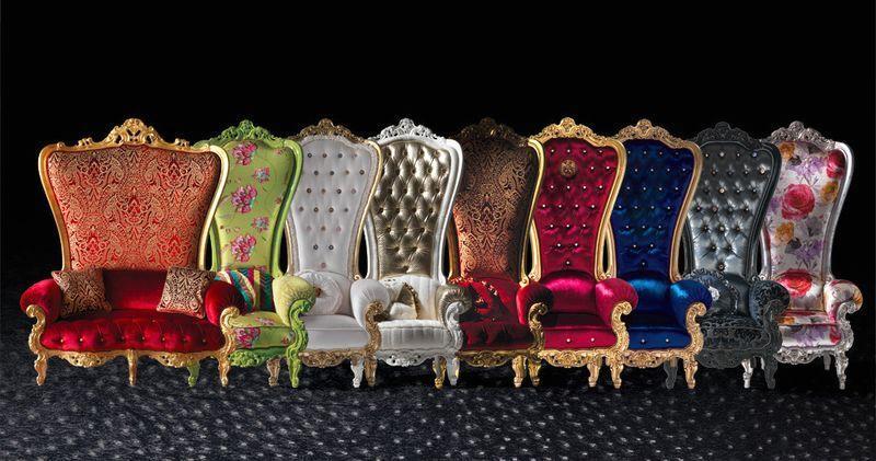 серия кресел в виде трона The Throne от Caspani