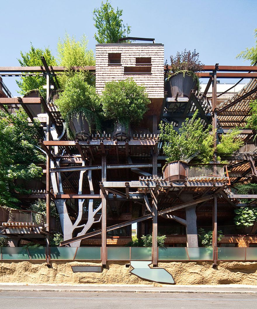 фасад эко дома 25 green