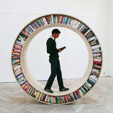 книжные полки - колесо