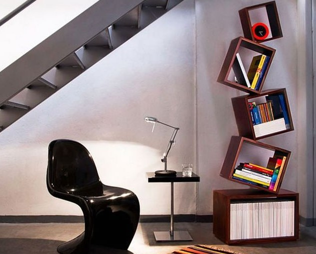 дизайнерские книжные полки