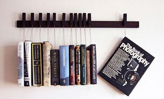 книжные полки - вешалки