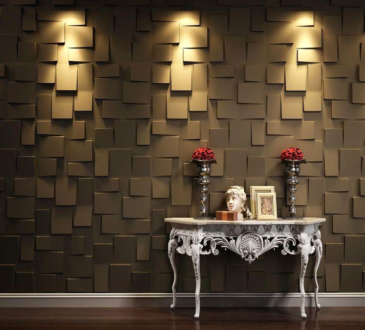 3d панели для стен эффект объема в интерьере