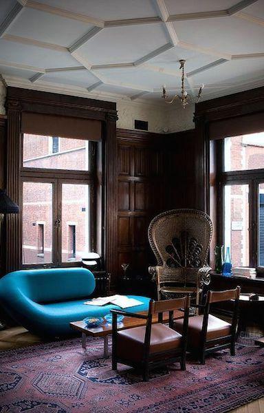 восточные ковры в интерьере кабинета