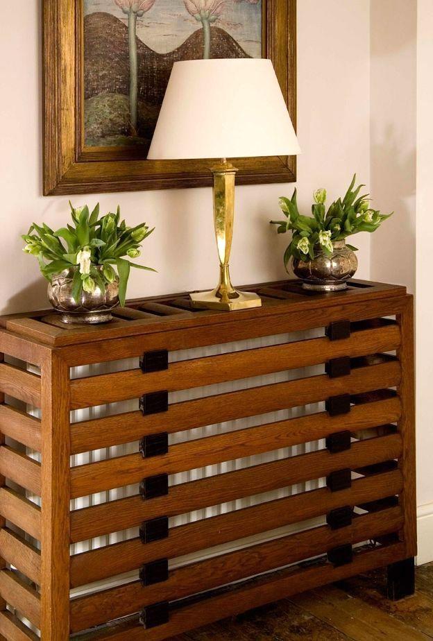 деревянные решетки для радиаторов в интерьере