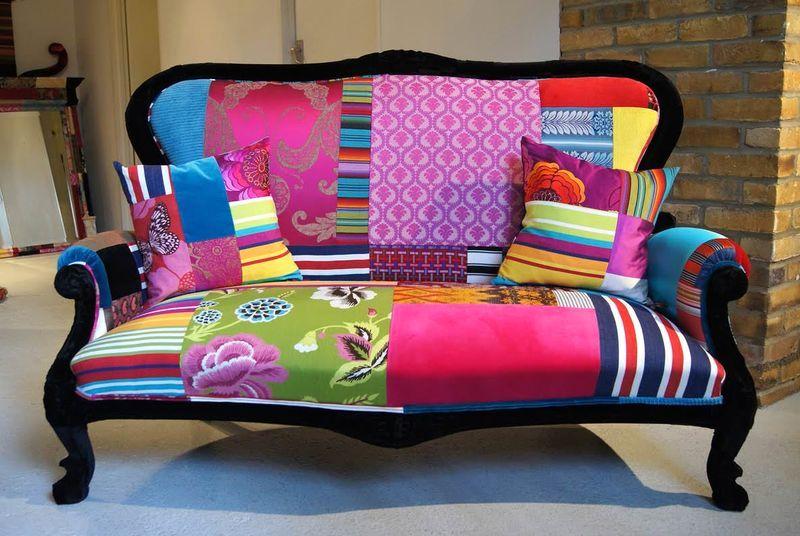 диван и подушки пэчворк