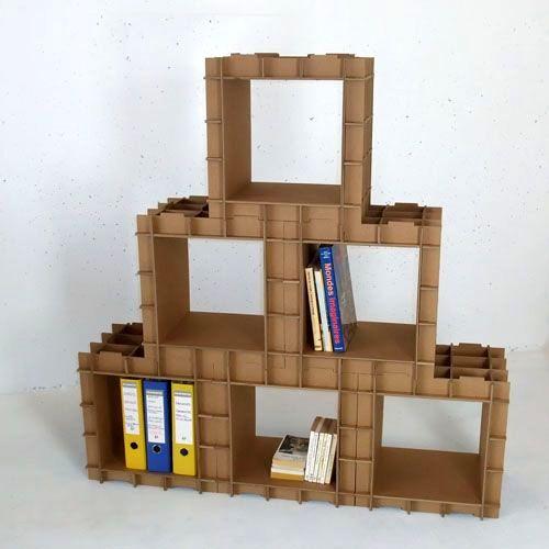 картонный стеллаж конструктор своими руками
