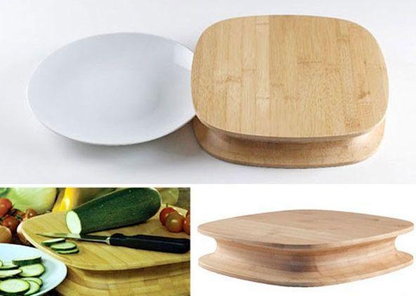 разделочная доска с выемками для тарелок
