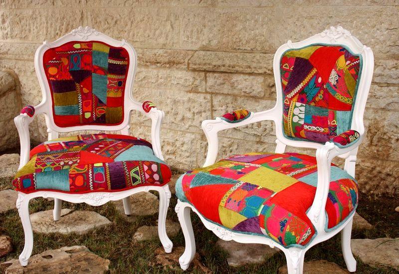 стулья в стиле пэчворк