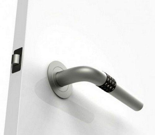 необычные дверные ручки с кодовым замком