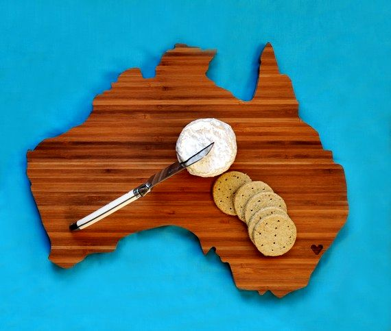 географические деревянные разделочные доски - Австралия
