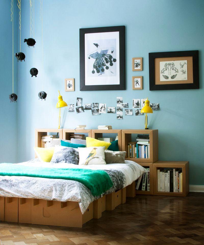 кровать из картона австралийской студии Karton Group