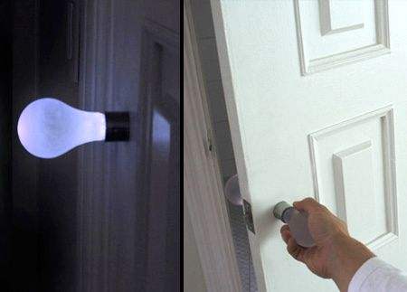 дверная ручка - лампа