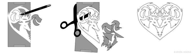 инструкции как вырезать сердечки в стиле Игры престолов 09