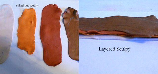 дверь для гномика из полимерной глины 11