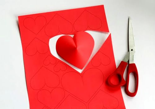 мастер-класс объемные сердечки из бумаги