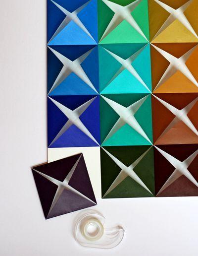 мастер-класс оригами на стену из бумаги 05