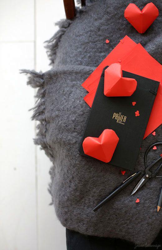 объемные сердечки из бумаги в технике оригами
