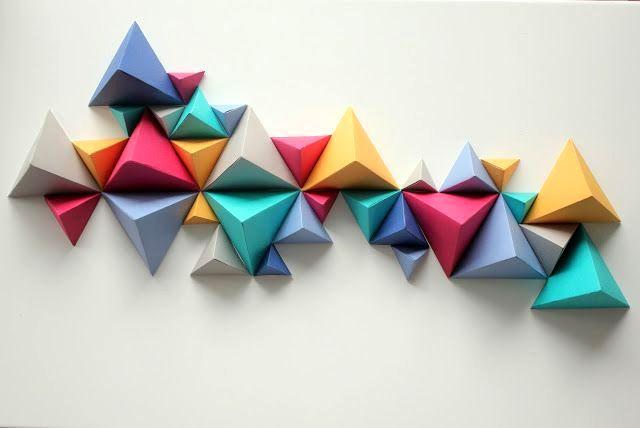 Оригами на стену