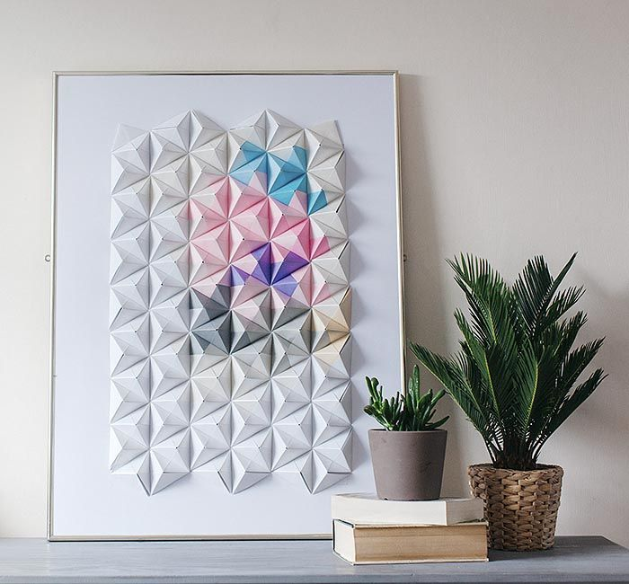 оригами на стену из бумаги 01