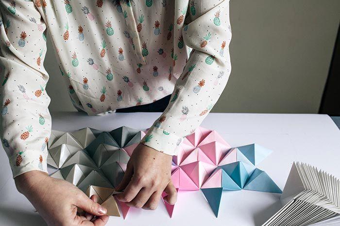 оригами на стену из бумаги 05