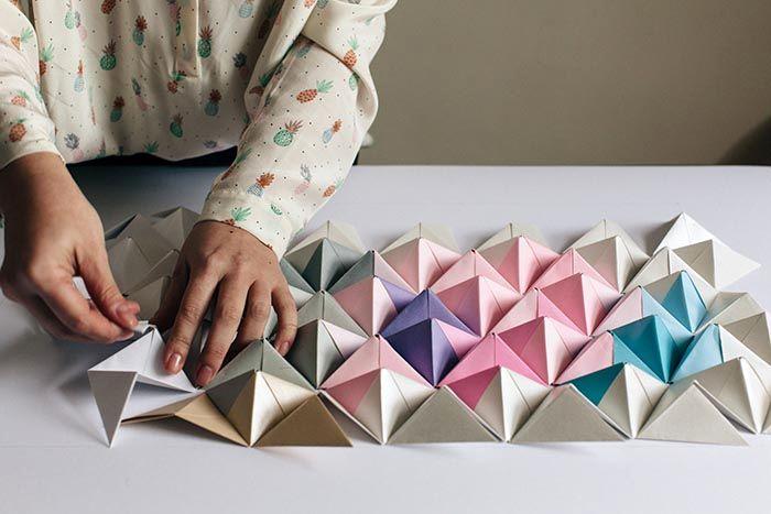 оригами на стену из бумаги 06