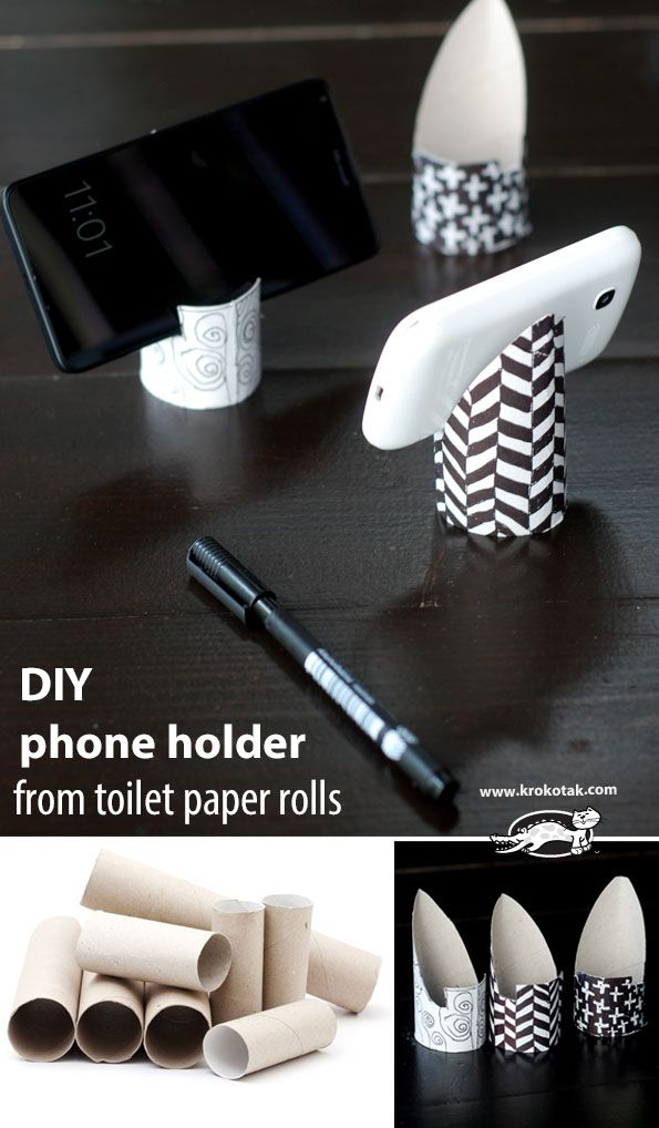 подставка под телефон из картона своими руками