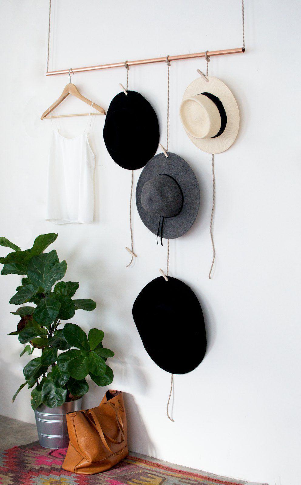 настенная вешалка для шляп своими руками
