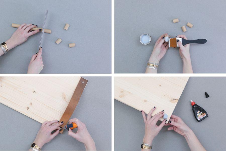 деревянный поднос с кожаными ручками