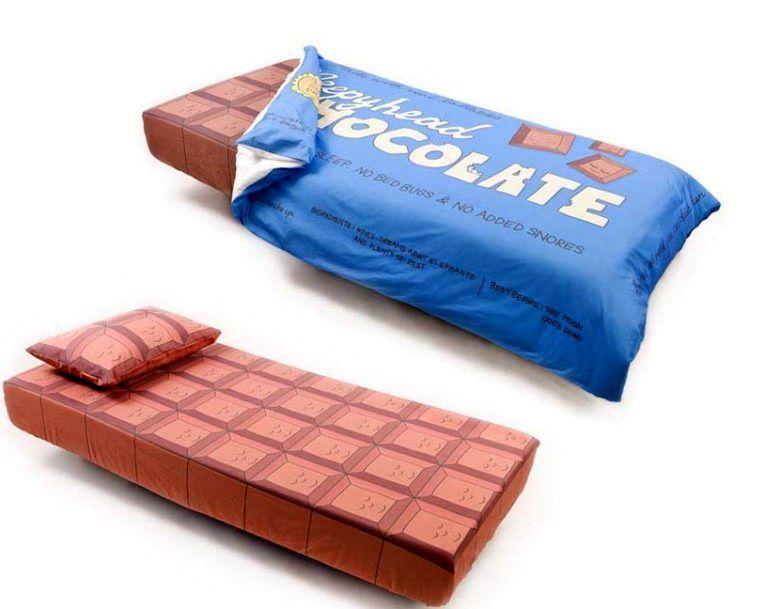 дизайн постельного белья в виде шоколадки от Bed toppings