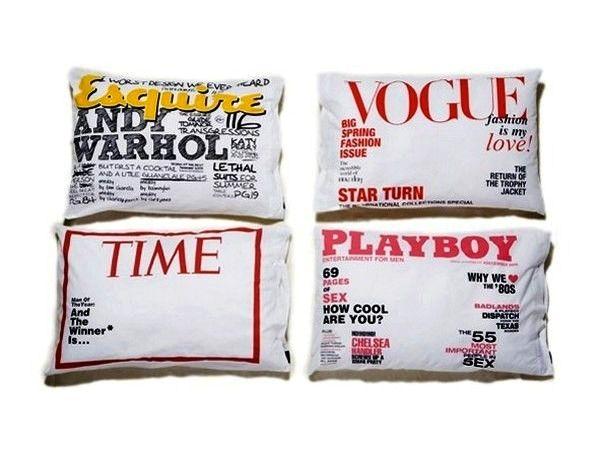 интересные наволочки-обложки Magazine Cover Pillowcase