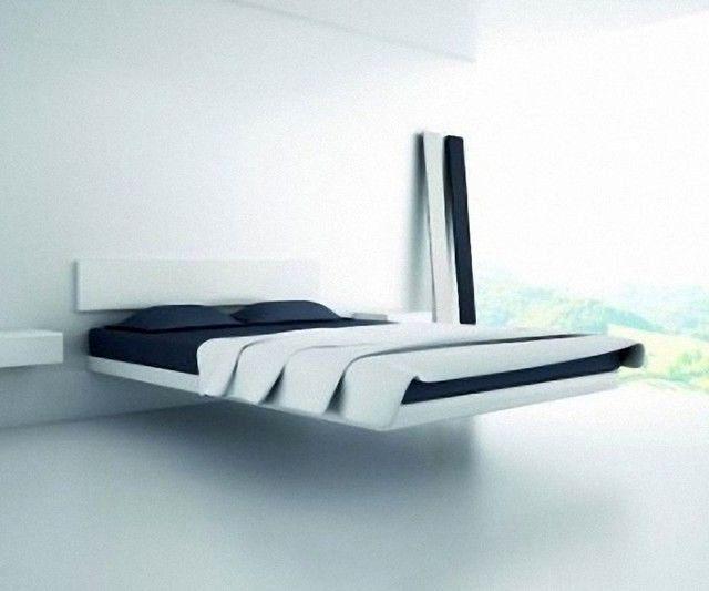 парящая кровать в стиле минимализма
