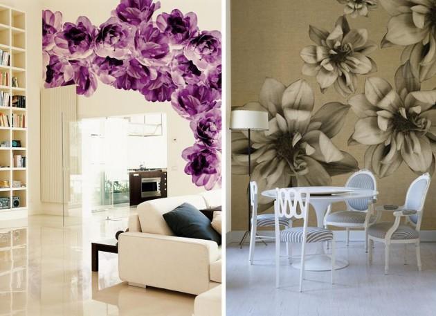 цветочные мотивы, виниловые обои Wall&Deco