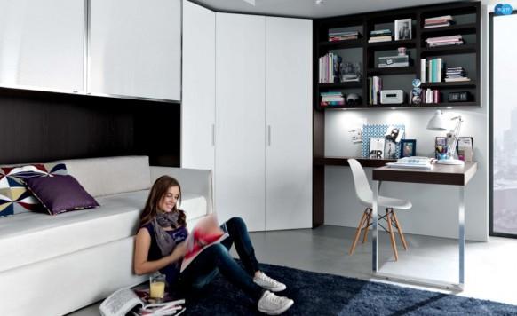 черно-белый интерьер комнаты для подростка, MisuraEmme