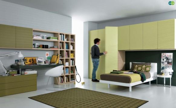салатовый интерьер комнаты для подростка, MisuraEmme