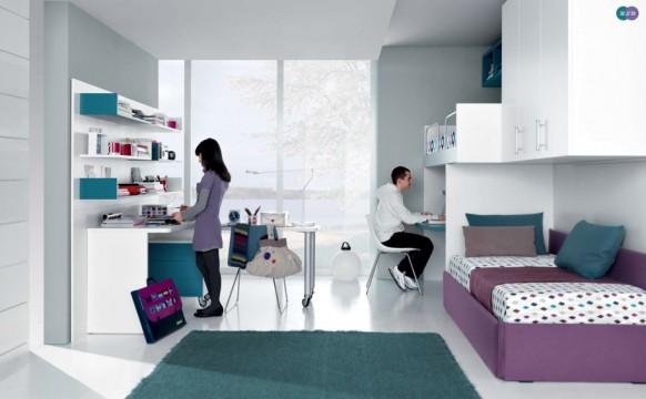 дизайн интерьера комнаты для двоих подростков, MisuraEmme