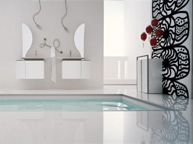 интерьер с ванной-бассейном