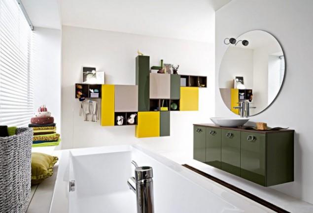 дизайн интерьера ванной cerasa в ярких тонах