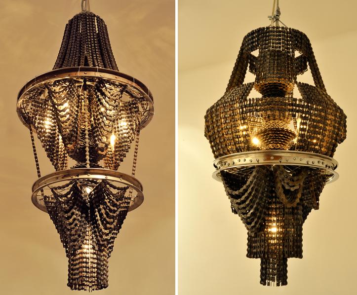 лампы из велосипедных деталей, Carolina Fontoura Alzaga
