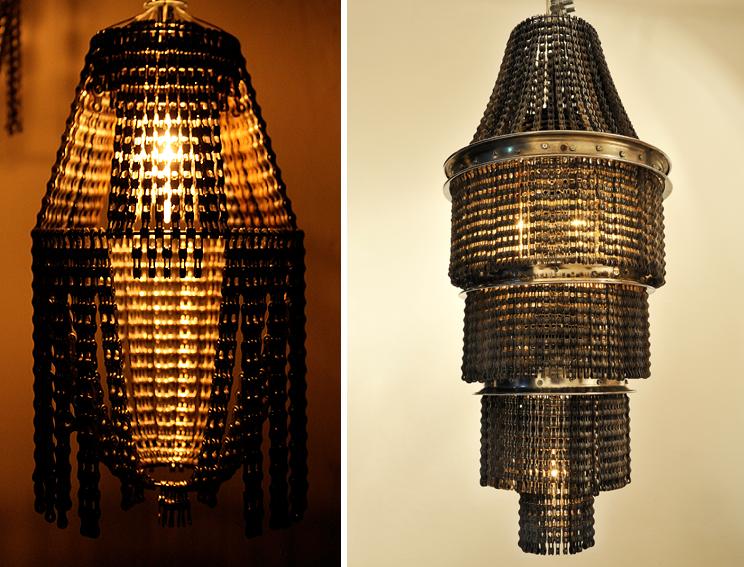 светильники из велосипедных деталей, Carolina Fontoura Alzaga