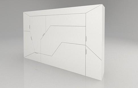 компактная мебель-трансформер Boxetti спальный модуль в закрытом виде