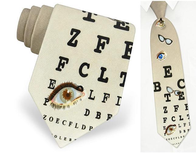 галстук - таблица для проверки зрения