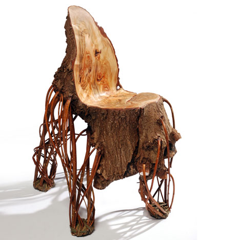 деревянный стул от Floris Wubben