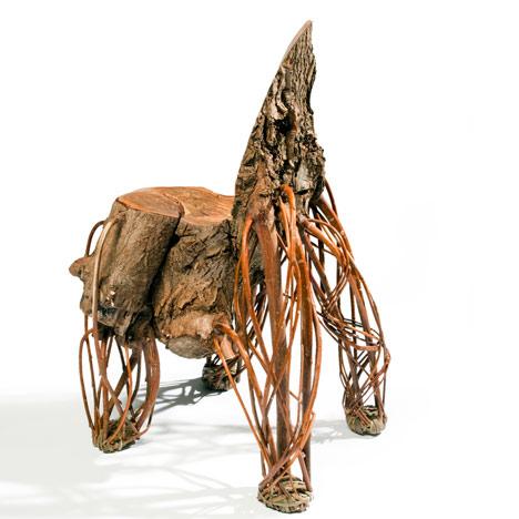 деревянный стул от Floris Wubben - полуоборот