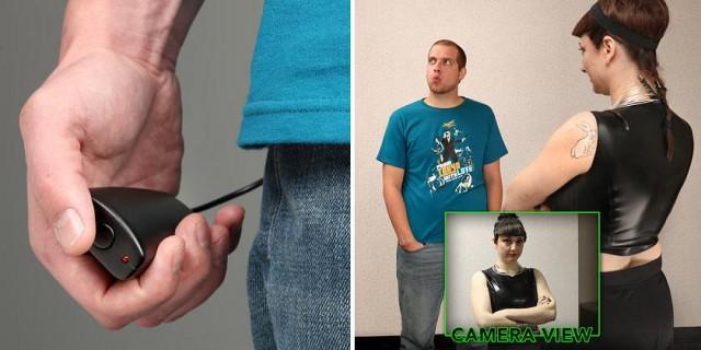 шпионская скрытая камера в оригинальной футболке
