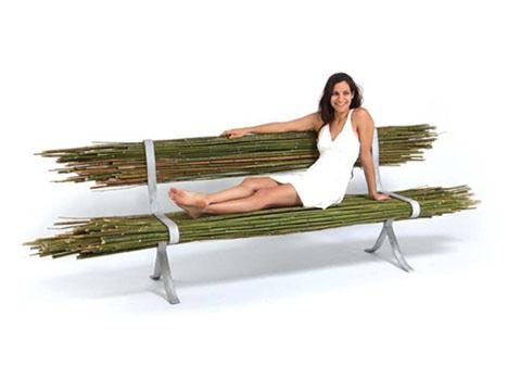 скамейка из бамбука Gal Ben-Arav