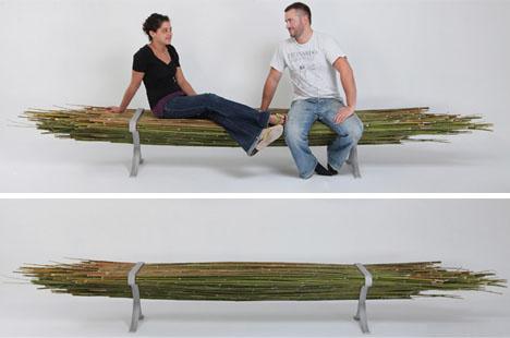 бамбуковая скамейка без спинки  от Gal Ben-Arav
